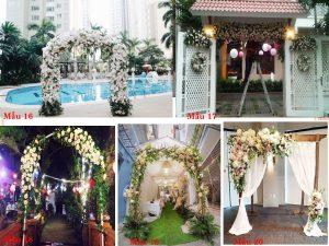 Mẫu cổng hoa cưới đẹp sang trọng tại Hưng Thịnh