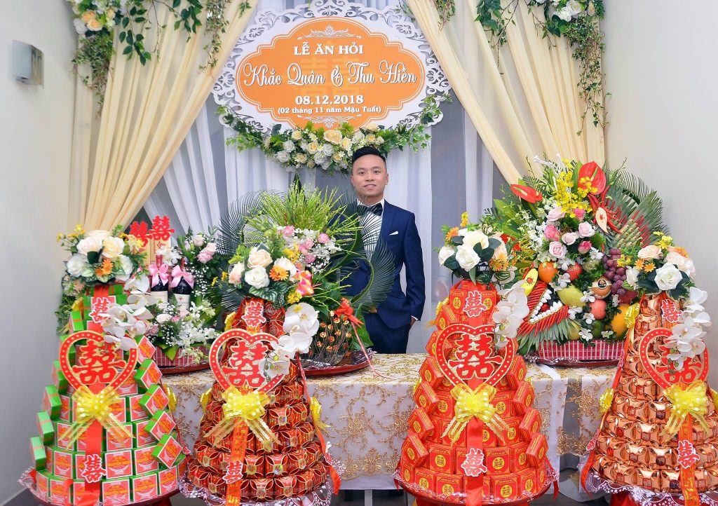 lễ ăn hỏi với 7 tráp truyền thống