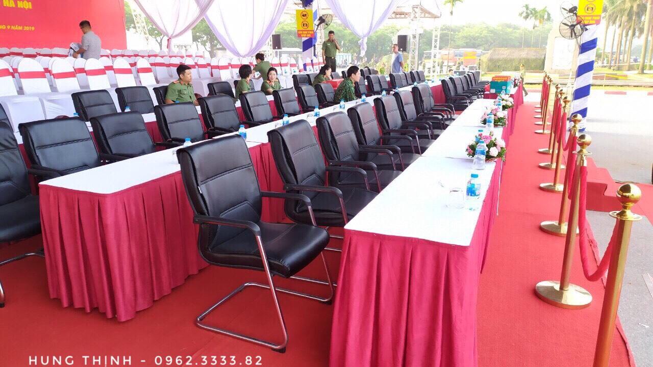 Cho thuê cộtparie,thuê bàn ghế sự kiện - hội nghị bộ công an