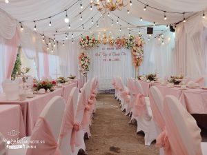 Kinh nghiệm tự trang trí tiệc cưới tại nhà cực hay
